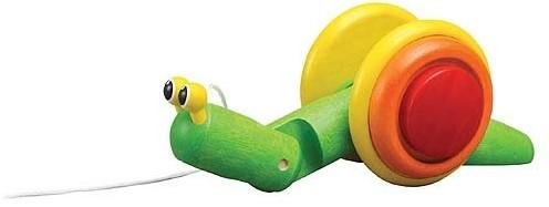 Plan Toys houten trekfiguur slak