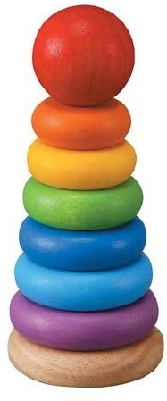 Plan Toys stapelfiguur gekleurde ringen