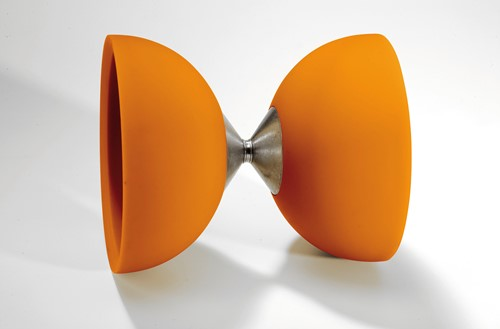 Acrobat - 105 Rubber Diabolo Orange