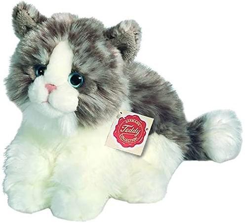 Hermann Teddy Katze sitzend grau 23 cm
