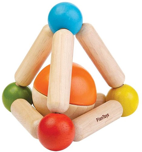 Plan Toys houten rammelaar driehoek