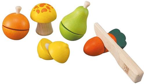 Plan Toys houten keukenset fruit en groente