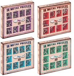 Eureka puzzelspel 10 Metal Puzzles Set color 2