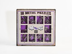 Eureka puzzelspel 10 Metal Puzzles Set color 4