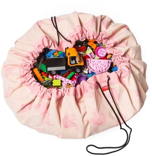 Play&Go speelgoed opbergzak Roze Olifant