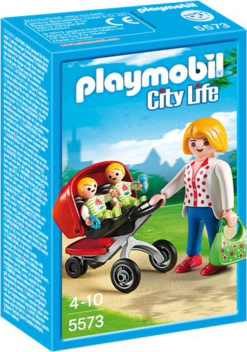 Playmobil City Life - Tweeling kinderwagen 5573