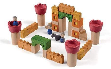 Plan Toys houten blokken Kasteel
