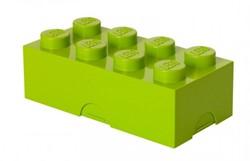 Lego  kinderservies Lunchbox brick 8 lime: groen