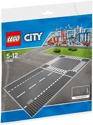 LEGO City Rechte wegenplaten en kruising 7280