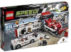 Lego  Speed Champions set Porsche Hybrid und K Pit Lane 75876