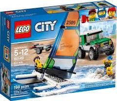 Lego  City set Pickup x met catamaran 60149