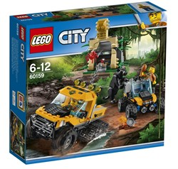 LEGO city Jungle Explorers Jungle missie met halfrupsvoertuig 60159