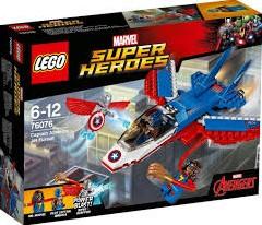 LEGO Super Heroes Captain America jet-achtervolging 76076