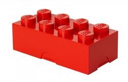 Lego  kinderservies Lunchbox brick 8: rood