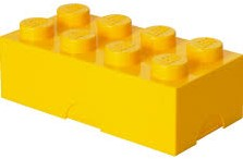 LEGO kinderservies Lunchbox Brick 8: geel