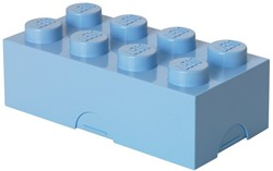 Lego  kinderservies Lunchbox: Brick 8 Lichtblauw