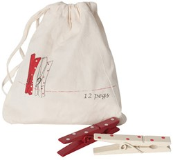 Maileg 12 Christmas pegs in a bag