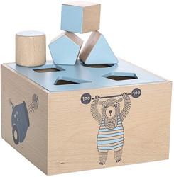 Bloomingville speelgoed, Circus Intelligence Box, Blue, Beech