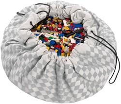 Play&Go  speelgoed opbergzak Grijze diamanten
