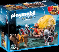 Playmobil Knights  - Camouflage hooiwagen van de Valkenridders  6005