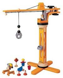 Plan Toys  Plan City houten speelstad gebouw 6086 Kraan set