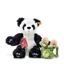 Steiff knuffel Around the world bears Lin, the globetrotting panda, white/black 34 cm