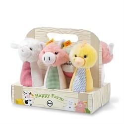 Steiff babyspeelgoed Happy Farm skittles set, multicoloured 20 cm