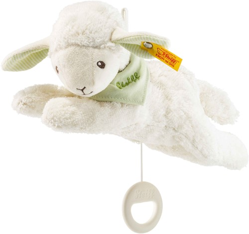 Steiff Lenny lamb music box, green