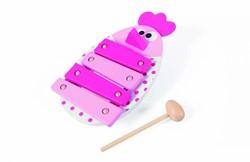Scratch  houten muziekinstrument Xylofoon kip