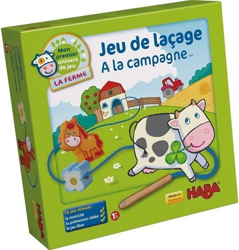 HABA Mijn eerste speelwereld - Rijgspel Op de boerderij