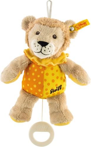 Steiff Leon lion music box, beige/yellow/orange
