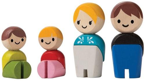 Plan Toys Plan City houten poppetjes Europese familie