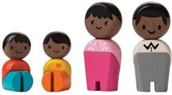 Plan Toys  Plan City houten speelstad poppentjes Afro american family