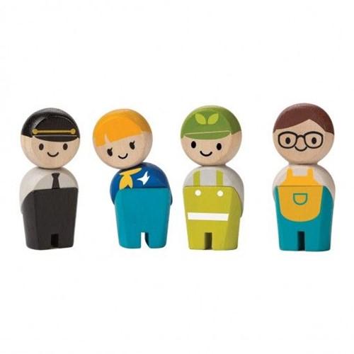 Plan Toys Plan City houten poppetjes beroepen
