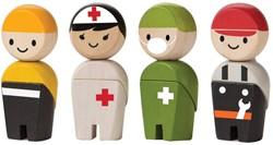 Plan Toys Plan City houten poppetjes Rescue crew
