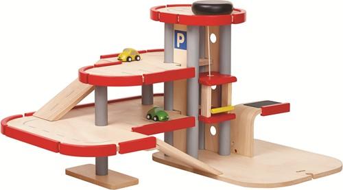 Plan Toys houten speelgoed garage