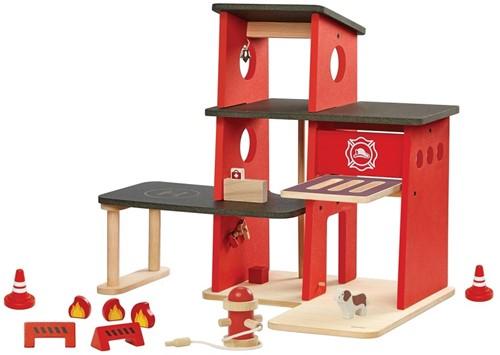 Plan Toys Brandweer garage