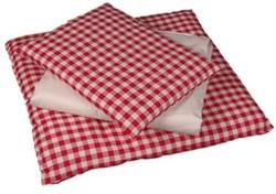 Van Dijk Toys Bedbekleding rood/wit geblokt