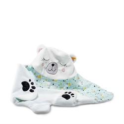 Steiff dekentje Soft Cuddly Friends Iggy polar bear hooded baby blanket, white/multico 90 cm