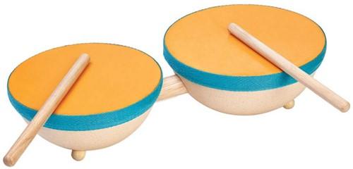 Plan Toys  houten muziekinstrument Double drum
