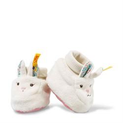 Steiff babysloffen Blossom Babies rabbit shoes, cream/pink 10 cm