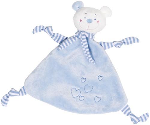 Goki Cuddle bear (light blue) with hearts