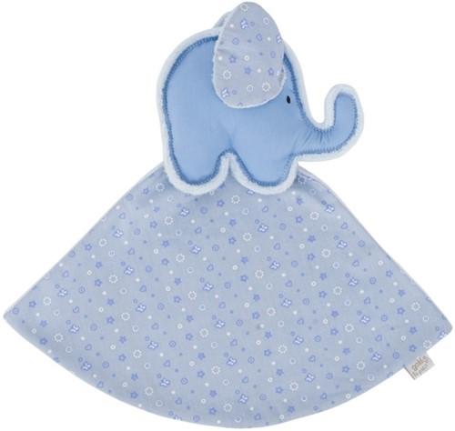 Goki Cuddle cloth elephant (blue), le petit