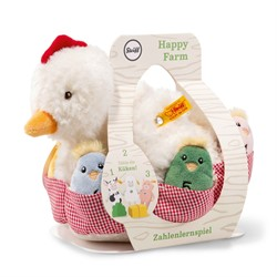 Steiff babyspeelgoed Happy Farm Numbers counting game, white/multicoloured 20 cm