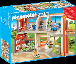 Playmobil City Life  - Compleet ingericht kinderziekenhuis  6657