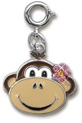 Charm It  sieraden bedeltje aap met bloem