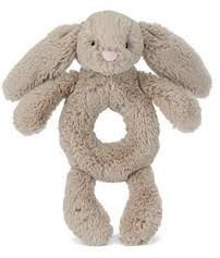 Jellycat Bashful Beige Bunny Grabber - 18cm