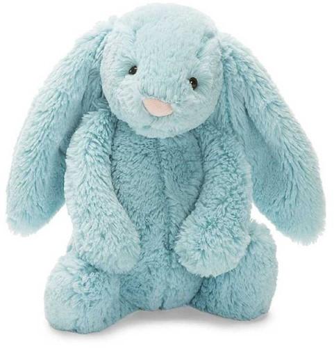 Jellycat knuffel Bashful Aqua Konijn Klein 18cm