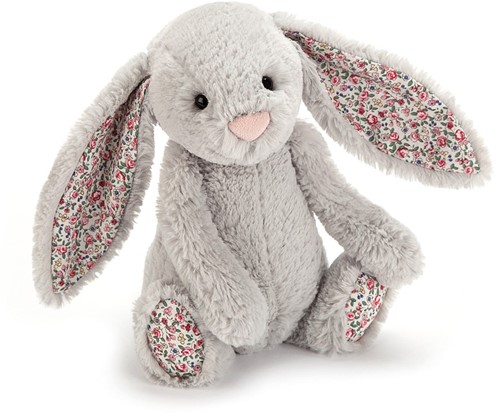 Jellycat knuffel Bloesem Zilver Konijn Baby 13cm