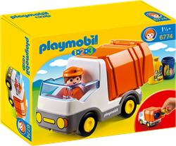 Playmobil 1.2.3 - Vuilniswagen 6774